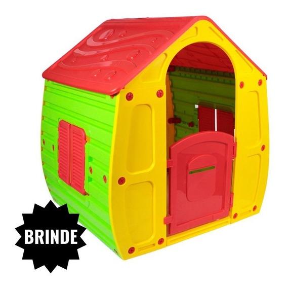 Casinha Infantil De Brinquedo Criança Plástico + Brinde