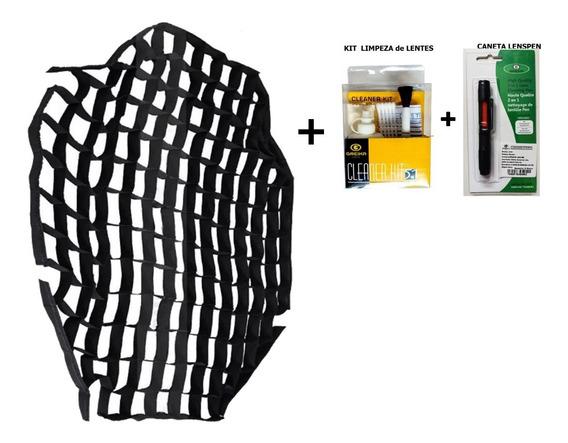 Kit De Limpeza De Lentes + Tela Grid Colméia Para Softbox