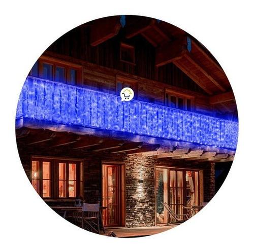 Cortina Luz Led 10 M Extensión Navidad 360 Luces Azul 2072