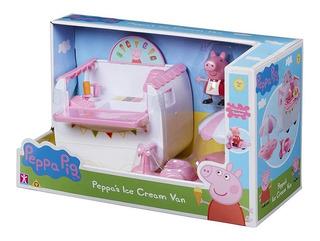Peppa Pig Carrito De Helados Con Figura Original Peppa