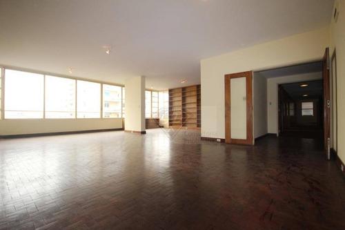 Apartamento À Venda Em Higienópolis Com 4 Dormitórios E 3 Vagas. - Ap14441