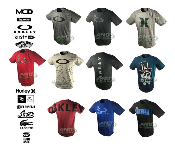 Kit 10 Camisetas Regatas Oakley Mcd Oakley Lost Hurley