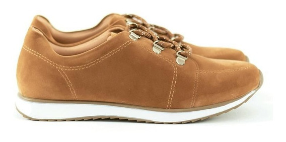 Tênis Feminino Casual Via Uno Ecocabra Light Tan 10361
