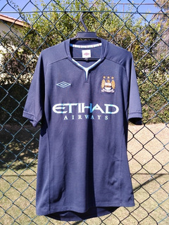 Camisa Manchester City Umbro 2010/11 Away Dzeko #10 Tam M
