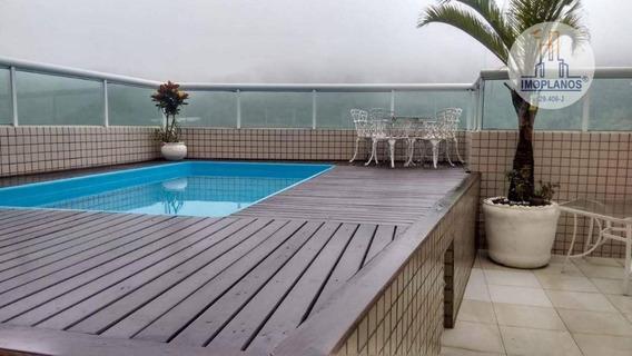 Cobertura Com 3 Dormitórios À Venda, 242 M² Por R$ 2.000.000 - Canto Do Forte - Praia Grande/sp - Co0164