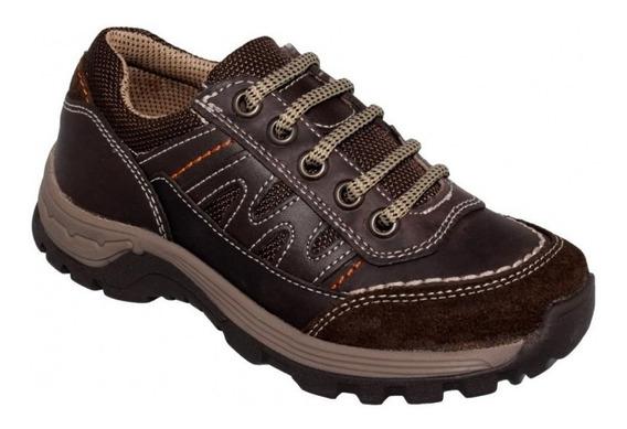 Zapatos Casuales Para Niño Marca Yuyin Piel Chocolate 6106