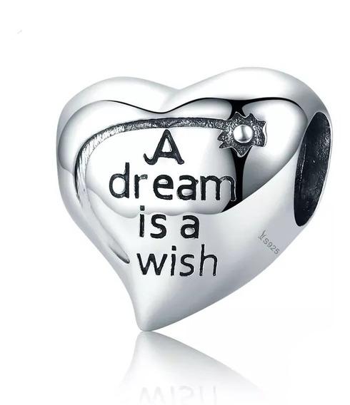 Charm Dije Corazón Sueño Plata S925 Compatible Pandora Envío