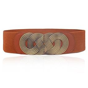 bb6cbb72 Cinturón Elástico De Vestir Elástico Ancho Para Mujer Con...
