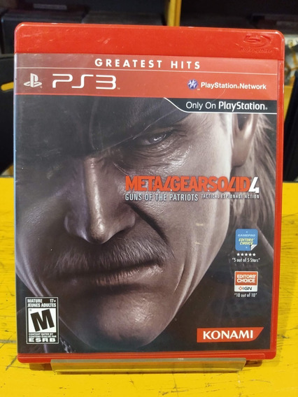 Metal Gear Solid 4 Ps3 - Jogo Mídia Original
