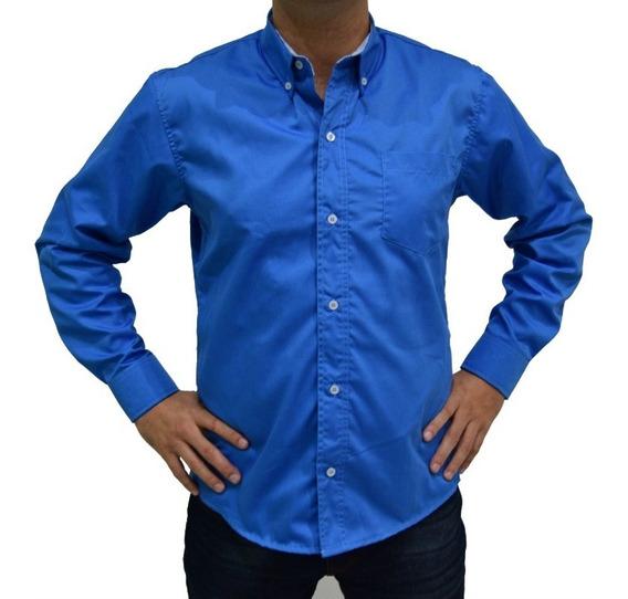 Camisa Hombre Casual De Vestir Lisa Colores