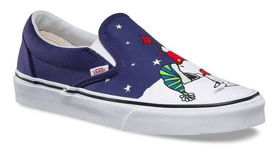 Tenis Vans Snoopy Azul Navidad Infantil