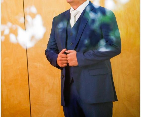 Terno Ricardo Almeida Azul Marinho