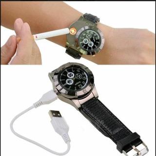 Reloj Recargable Encendedor Fosforera