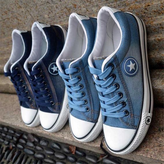 Tênis Plataforma Jeans Importado Blogueirinha