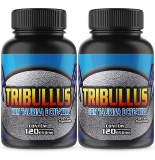 2 Tribullus Terrestres Com Taurina E Creatina 120cpr 650mg