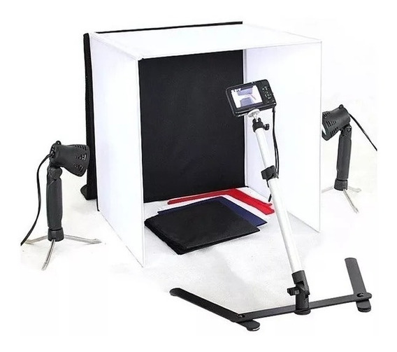 Kit Mini Estudio Fotografico Portatil Led 40x40 40cm