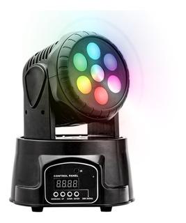 Cabezal Movil Led 7 Rgb Dmx Audioritmica Luces Boliche Flash
