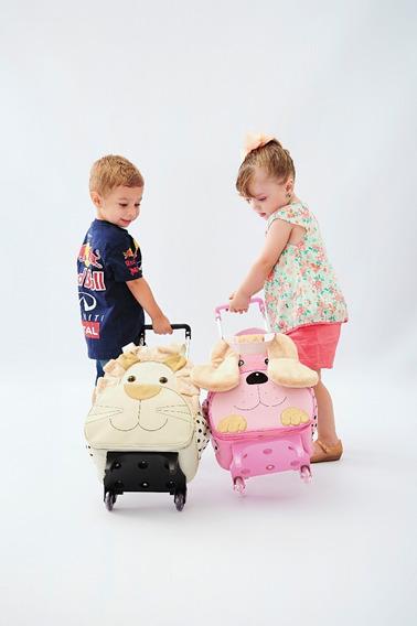 Mochila Animais De Carrinho G - Rodinha Modelos - Infantil