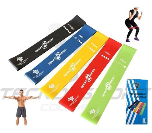 Kit 5 Banda Elástica Sportfitness Tonificación Gym Oferta