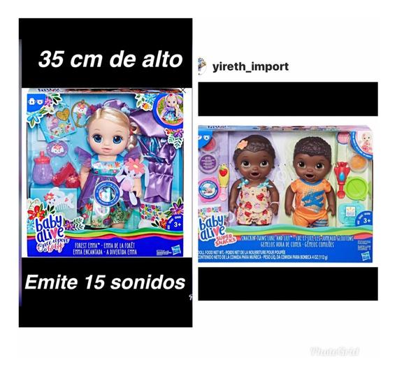 Muñeca Baby Alive Gemelos Con Accesorios Originales Hasbro
