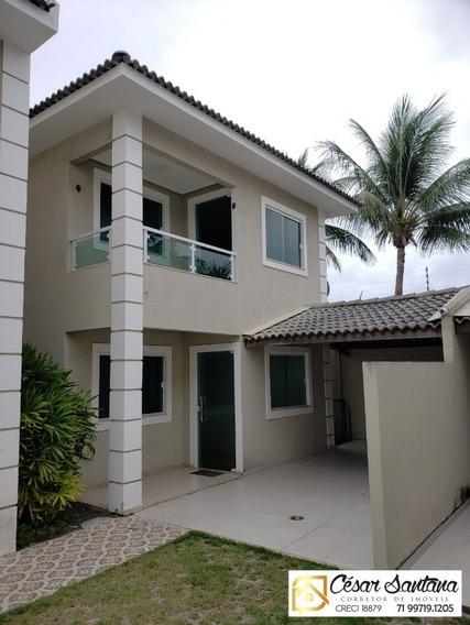 Casa Duplex 4/4 Suíte Varanda E Closet / Vila Praiana / Centro - Lauro De Freitas - Ca00538 - 34438908