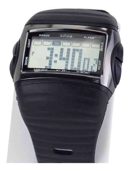 Relógio Unissex Digital Preto Á Prova D´água - Krs30