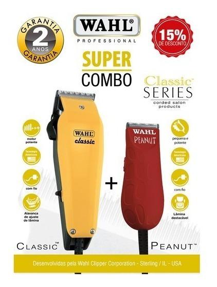 Kit Wahl Máquina De Corte E Aparador Classic + Peanut 220v