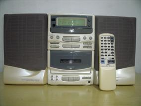 Raro E Lindo Micro System Jvc Ux-t20wt Branca Perola Anos90