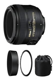Lente Af-s Nikon Nikkor 50mm F/1.4g + Parasol 12 Cuotas