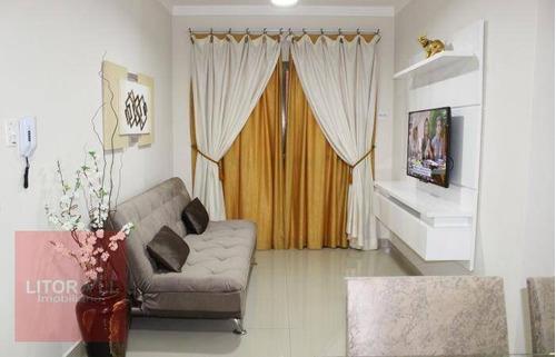 Imagem 1 de 17 de Apartamento Com 1 Dormitório À Venda, 55 M² Por R$ 220.000 - Aviação - Praia Grande/sp - Ap0297