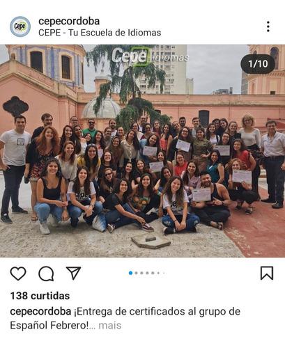 Imagem 1 de 3 de Curso De Eapanhol Em Córdoba- Argentina - Julho 2022