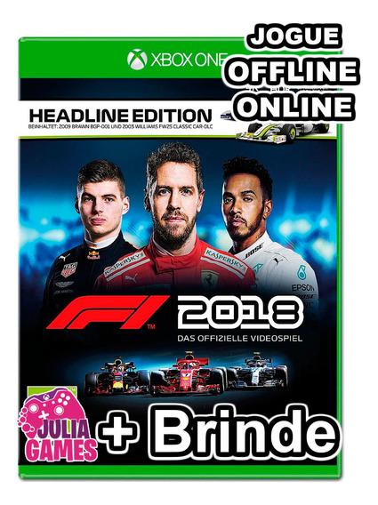 F1 2018 Headline Edition Xbox One Midia Digital + Brinde
