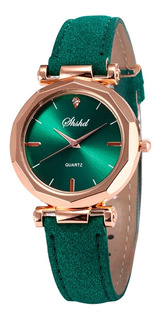 Relógio Feminino Barato Azul Preto Branco Rosé Verde Marrom
