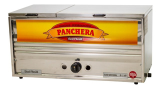 Panchera Grande A Gas Sol Real 84cm Acero Gas Natural