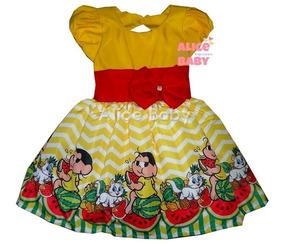 Vestido Temático Infantil Festa Magali Mod.4