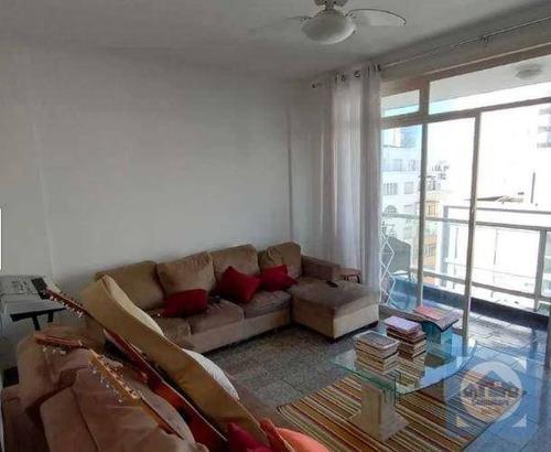 Imagem 1 de 16 de Apartamento Com 2 Dormitórios À Venda, 90 M² Por R$ 398.000,00 - Gonzaga - Santos/sp - Ap5106