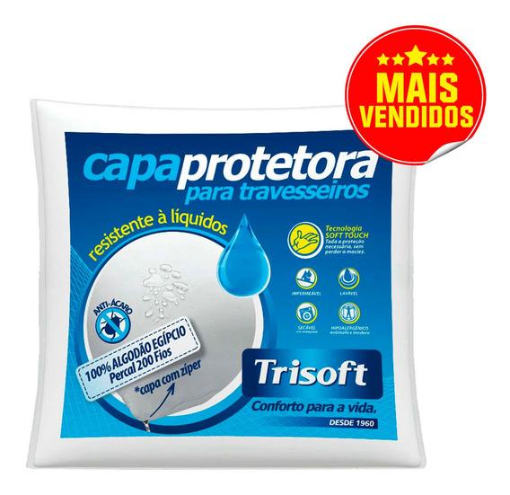 Capa Protetora Impermeável Com Zíper 200 Fios 100% Algodão P