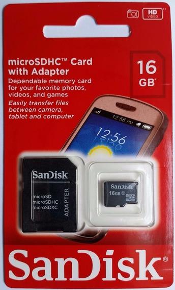 Cartão De Memória Sandisk Micro Sd Classe 4 / 16gb