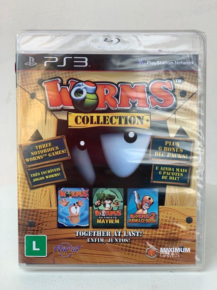 Jogo Worms Collection Ps3 Novo