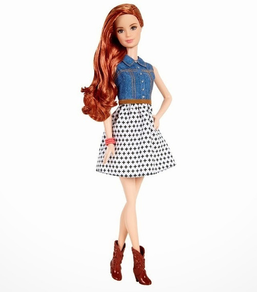 Boneca Barbie Fashionistas Balada Ruiva Frete Grátis