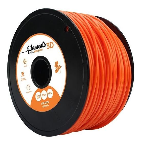 Filamento Para Impressoras 3d Pla 1kg 3mm Laranja