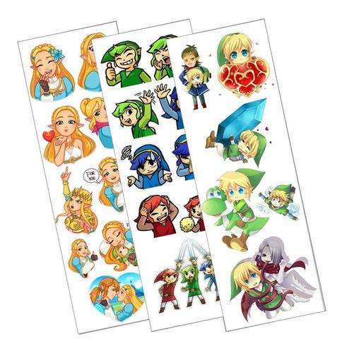 Plancha De Stickers De Legend Of Zelda Nintendo