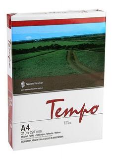 Resma Tempo A4 75gr Papel 500 Hojas
