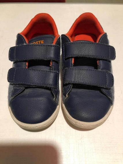 Zapatillas De Niño Lacoste Talle 26.5 Como Nuevas!