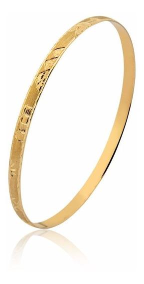 Pulseira Bracelete Meia Cana Egípcia Ouro 10k M8
