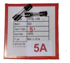 Fusível De Vidro 5a 250v 5x20 Caixa 100peças