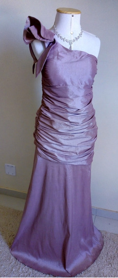 Vestido Festa Madrinha Casamento Longo Formatura Drapeado
