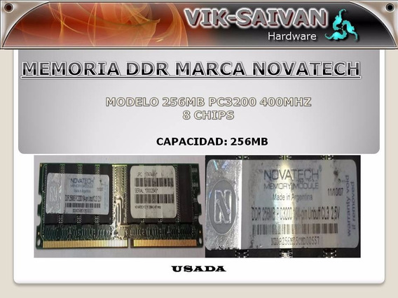 Memoria Ddr Novatech 256mb Pc-3200 400mhz 8 Chips 1