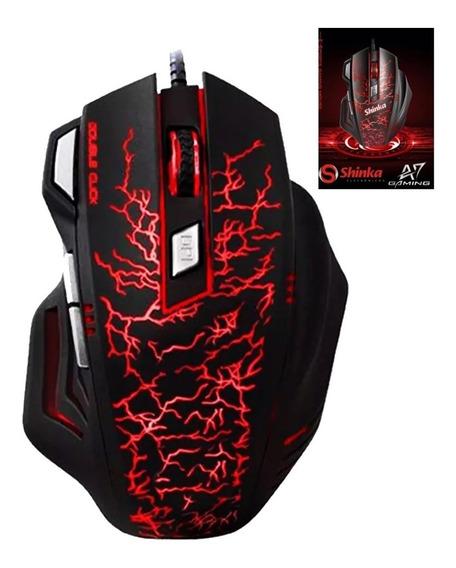 Mouse Gamer Shinka A7 Usb Gaming 3200 Dpi 7 Botoes