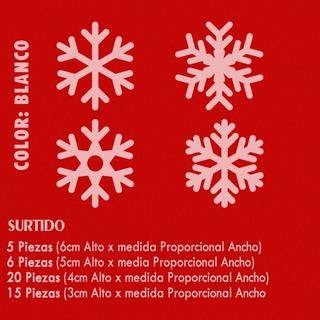 Navidad Stickers 46 Piezas Copos Nieve Calca Vinil